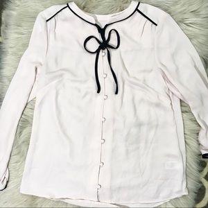 Talbots blush pink long sleeve career blouse sz S
